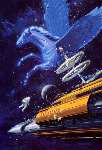 Vincent Di Fate - Pegasus In  Space