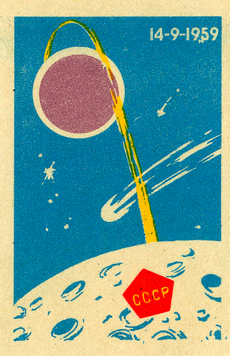 Russian Matchbox Label - Luna 2