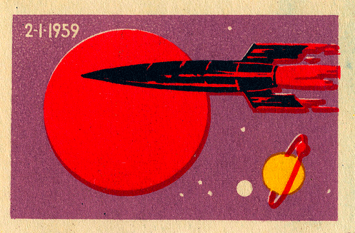 Russian Matchbox Label - Mechta (Luna 1)