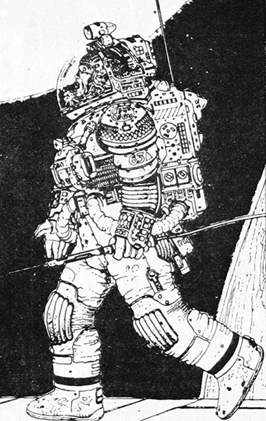 Jean Giraud Moebius Alien Spacesuit
