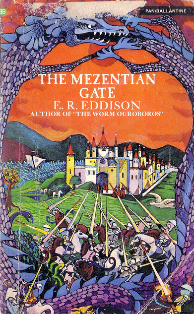 'The Menzentian Gate' cover art Barbara Remmington