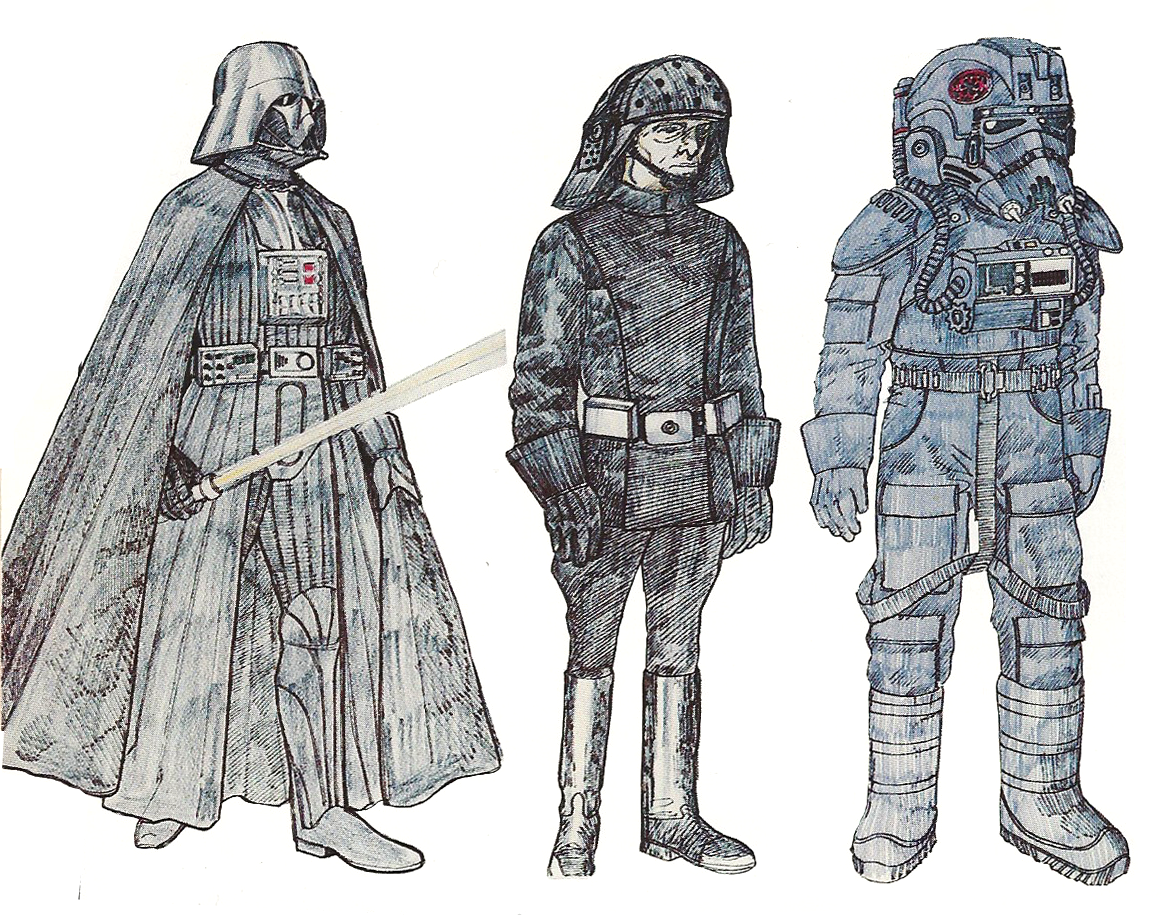 John Mollo Starwars costume sketches