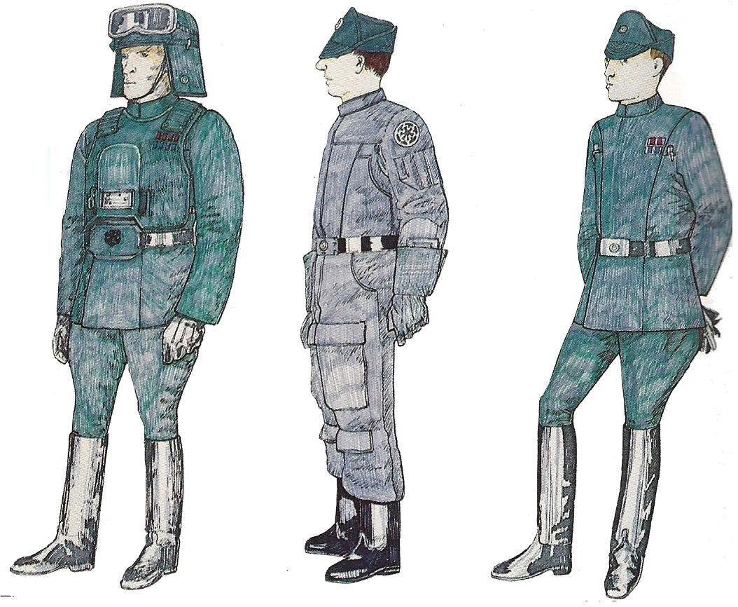 John Mollo Starwars costume sketchs