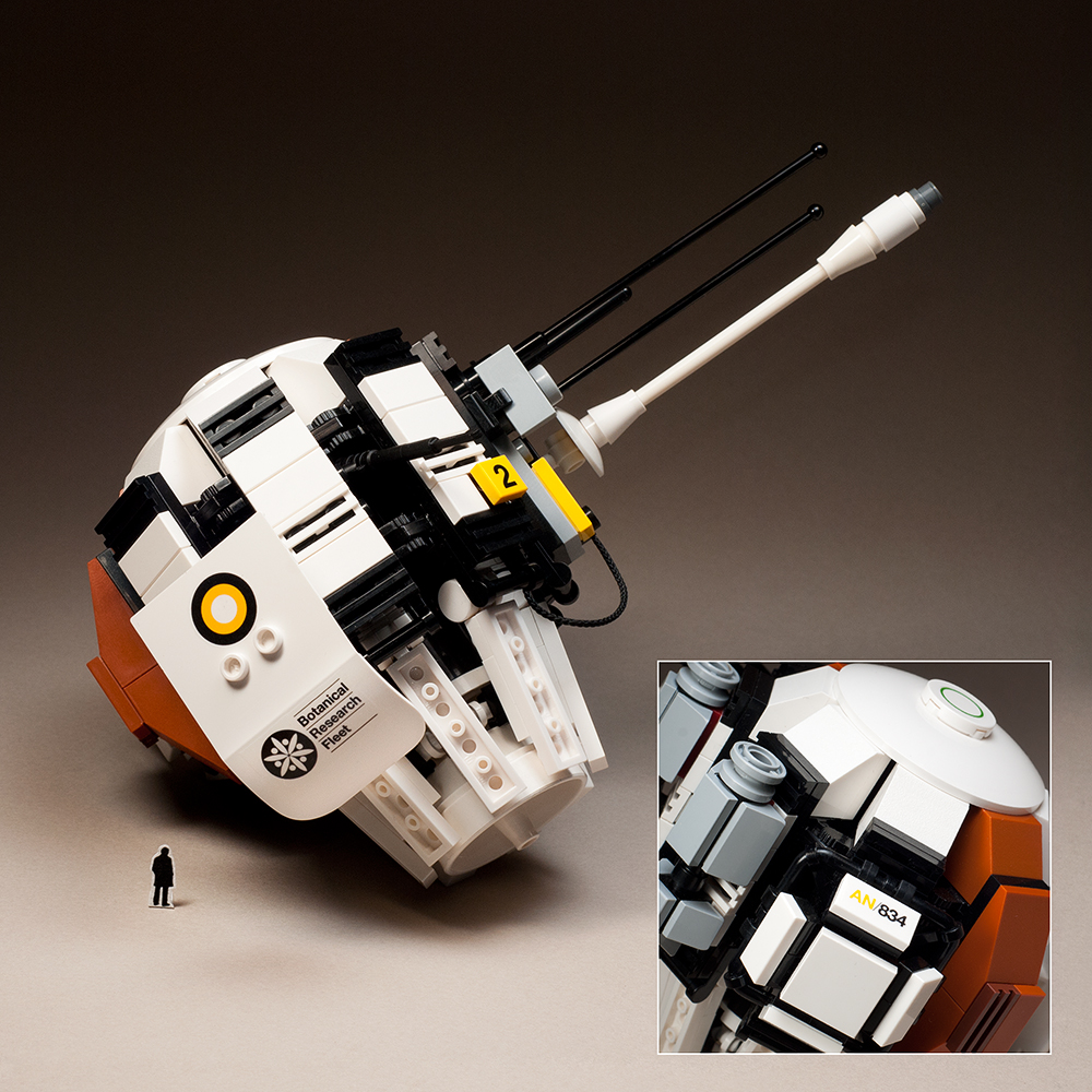Dan McPharlin 'Orbiting Research Station' Lego model with waterslide decals.