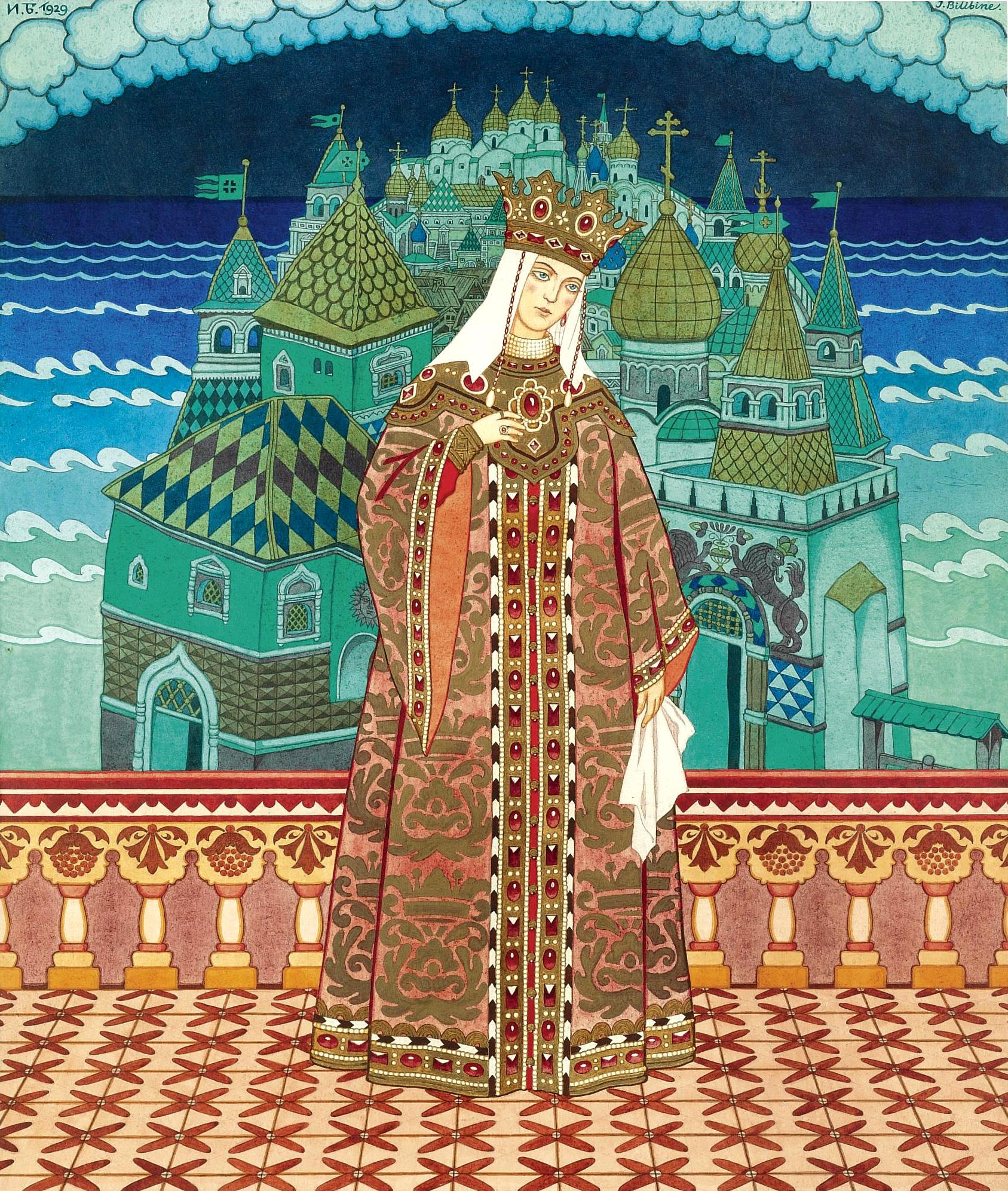 Ivan Bilibin - Tsaritsa Militritsa