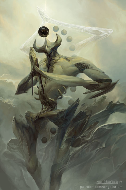 Peter Mohrbacher - Keter emanation of the crown