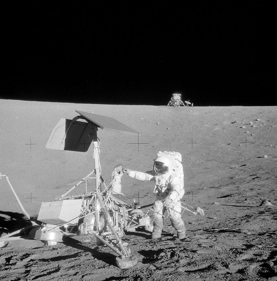 Surveyor 3, LM-6 Intrepid and astronaut Pete Conrad