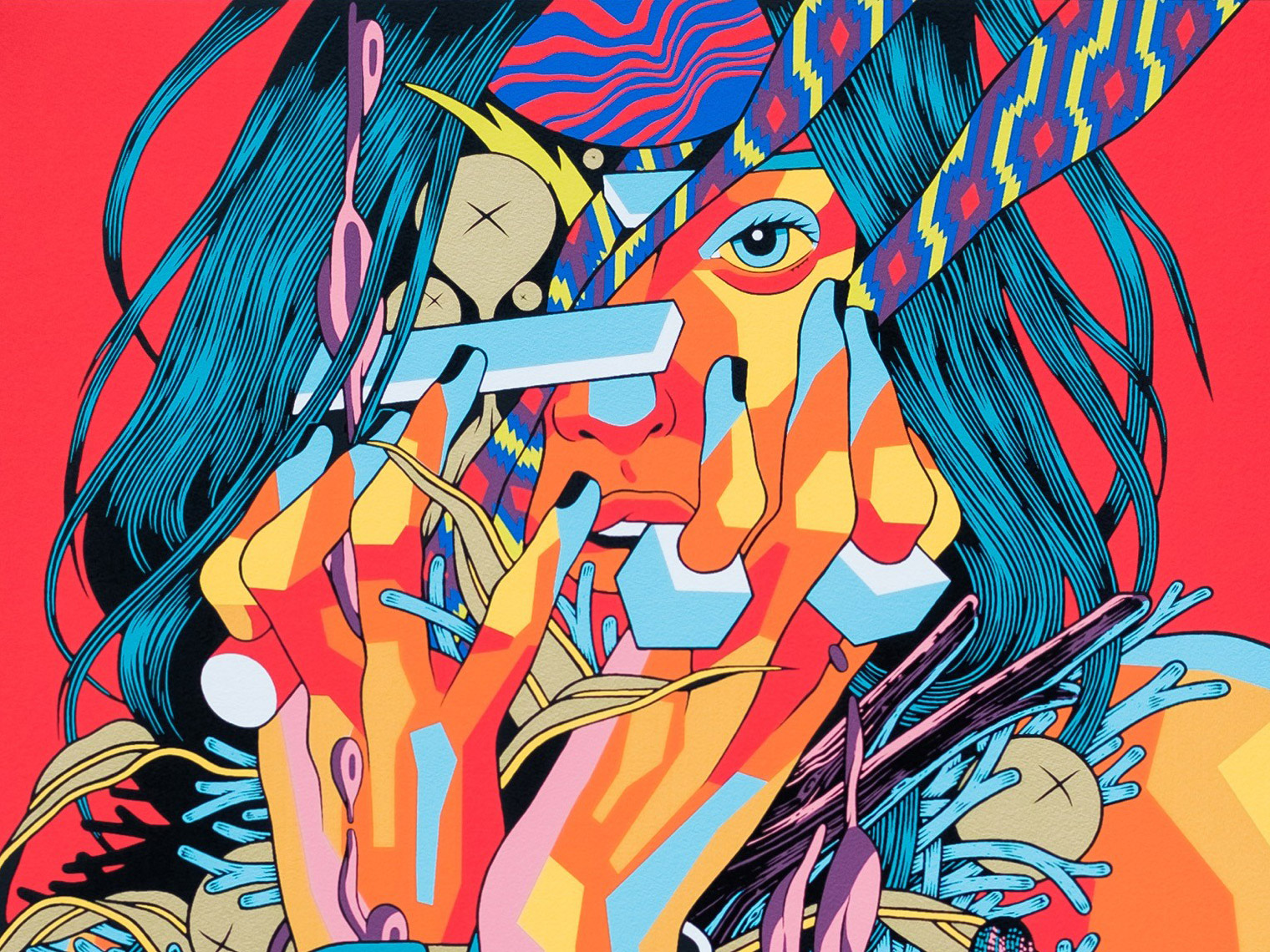 Kaleidoscopic Chaos: The Graphic Art of Bicicleta sem Freio